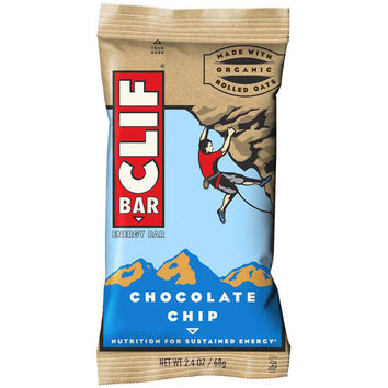 Clif Bar Chocolate Chip  2.4 oz Bars - Pack of 12