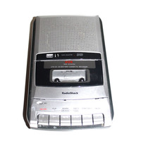 TAPE RECORDER Radio Shack Cassette Player and Recorder With Power Adapter Works!