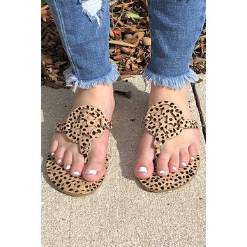 Dancing In The Streets Sandals- Cheetah