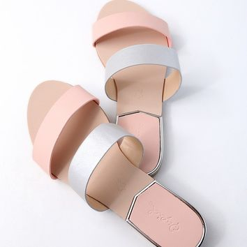 Leeanna Blush Slide Sandals