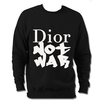 Dior not war slogan sweater