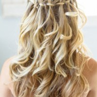 top-5-simple-wedding-braid-updos-waterfall | WeddingElation