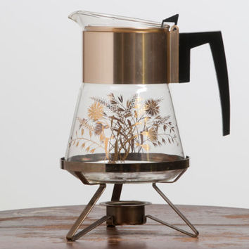 Vintage Douglas Flameproof Glass Coffee Carafe and Warmer
