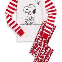 Toddler Boy's Hanna Andersson 'Peanuts - Snoopy' Organic Cotton Two-Piece Fitted Pajamas