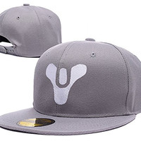 BARONL Destiny Logo Adjustable Snapback Caps Embroidery Hats - Grey