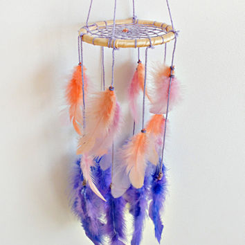 DreamCatcher, Mobile Dream catcher, Baby, Boho Dreamcatcher, Pastel Dream catcher, Pink dreamcatcher Handmade, Home Decor, Gypsy