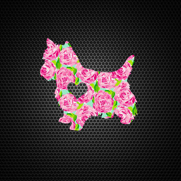 Lilly Pulitzer Yorkie Heart Decal | Yorkie Mom Decal | Yorkie Dog Mom Decal | Dog Dad Decal | Family Decal | Love Sticker | Love Decal | 200
