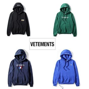 2018ss new Europe hip-hop collection Men Women hoodies pullover quality hiphop kanye west VETEMENTS Oversized Hoodie Sweatshirts