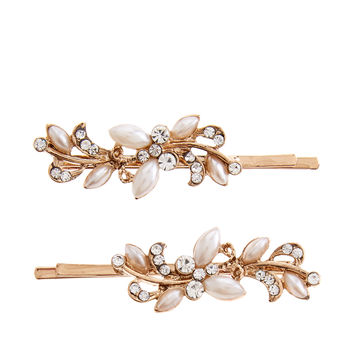 2 x Occasion Vine Hair Clips | Gold | Accessorize