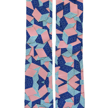 Blue Cubes Sock