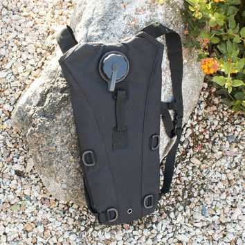 Black Everyday Carry Tactical Hydration Bag - Holds 3 Liters