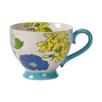 Tabletops Unlimited® Gallery Sonia Footed Mug in Turquoise