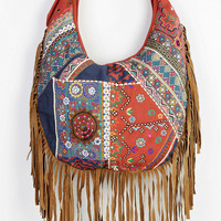 Urban Outfitters - Ecote Suede Fringe Hobo Bag