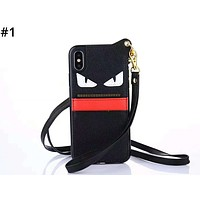 Fendi tide brand men and women with rope iphone7 card phone case #1