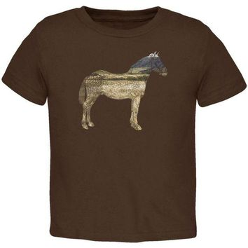 LMFCY8 Horse Field Wild Mustang Toddler T Shirt