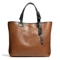 BLEECKER LEATHER SMALL HOLDALL