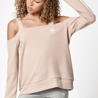 adidas Info Poster Off-The-Shoulder Crew Neck Sweatshirt at PacSun.com