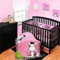 Walmart: Baby Boom I Luv Zebra Crib Collection Set - Value Bundle