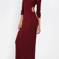 Urban Outfitters - KNT By Kova & T Beverly Cutout Sweater Maxi Dress