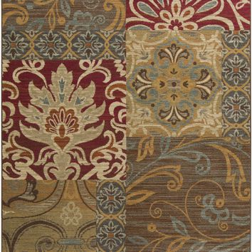 Surya Arabesque ABS3025 Pink/Brown Medallion and Damask Area Rug