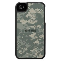 Army ACU Camouflage (Customizable) Iphone 4 Covers from Zazzle.com
