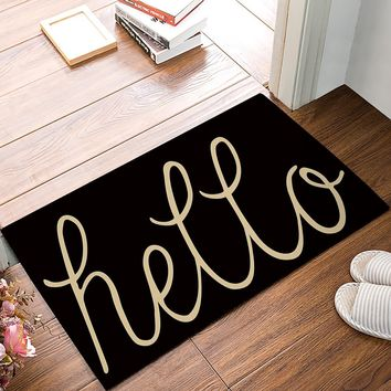 Hello There Welcome Door Mats Kitchen Floor Bath Entryway Rug Mat Absorbent Indoor Bathroom Rubber Non Slip 30 x 18 Inch