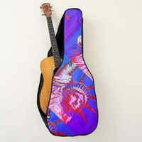 Statue of Liberty with 4th of July Word Cloud Guitar Case