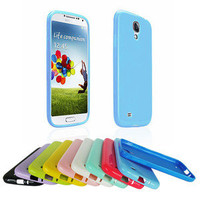 Plain Glossy Solid Color Soft TPU Gel Case Cover Skin Fr Samsung Galaxy S4 i9500
