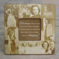 """Memorial Picture Frame,  Personalized Picture Frame, Custom Photo Collage Frame, In Memory Of, 8"""" x 8"""" Frame"""