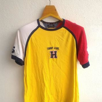 Vintage Tommy Jeans Hilfiger #85 Hip Hop Swag Ralph Lauren Supreme Colourful Colour Bl