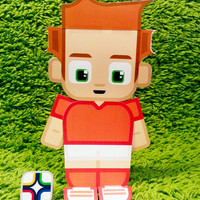 The Netherlands football soccer craft activity. Printable paper toy. Instant download. Make you own cards and football banners!
