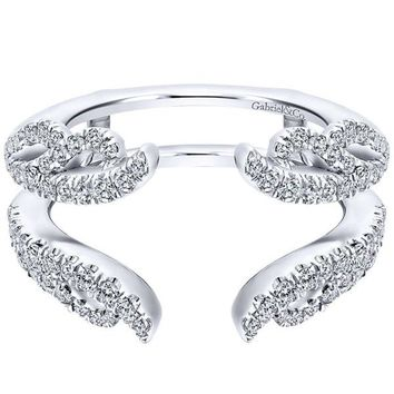 "Gabriel Two Row Twist Diamond ""Flair"" Enhancer Band"