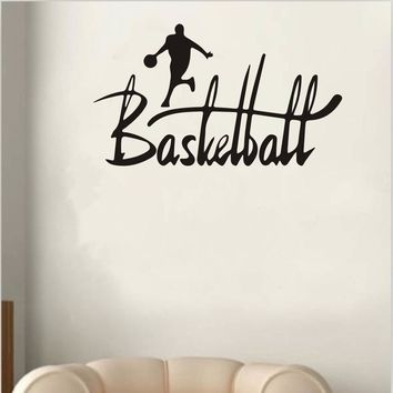 Basketball Sport Removable Wall Sticker Room Mural Decal Home Decor Vinyl Art wall stickers for kids rooms