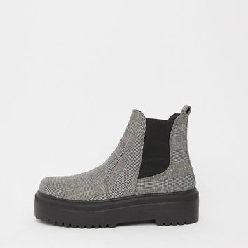 ASOS DESIGN Agnes chunky chelsea boots at asos.com