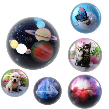 80mm Crystal Glass Half Ball Paperweight Quartz Sphere Fengshui Ornaments Home Decoration Figurines Souvenir Gifts