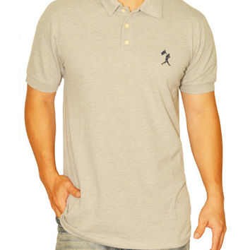 Flag Man Heritage Pique Polo - Grey