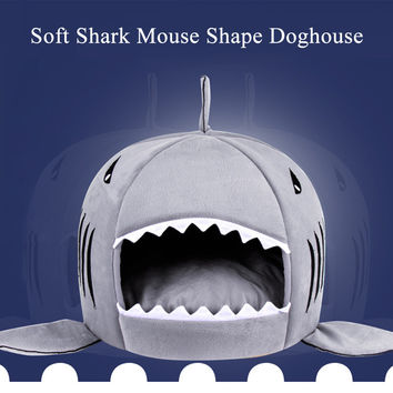 Shark Designed Soft Puppy Bed w/Removable Cushion