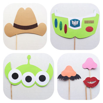 Toy Story Inspired Photo Booth Props; Woody and Friends Photobooth Props; Disney Birthday Party