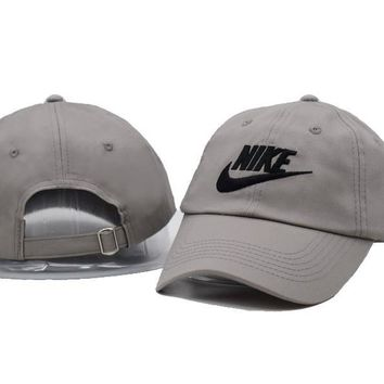 Gray Nike Authentic Dri-FIT Low Profile Swoosh Front Adjustable Cap
