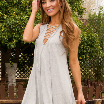 Sleeveless Vest Summer Sexy V-neck One Piece Dress [9250945804]