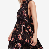 Free People She Moves Printed Lace-Trim Slip Dress | macys.com