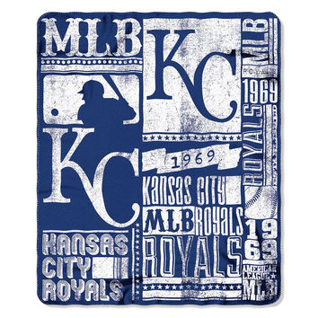 Kansas City Royals MLB Light Weight Fleece Blanket (Strength Series) (50inx60in)