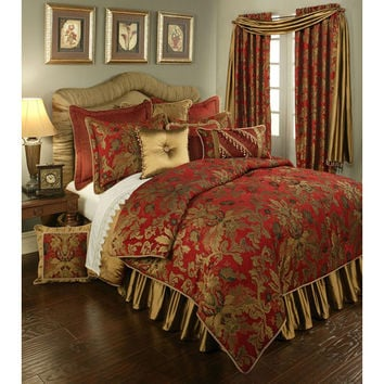 Pacific Coast Home Furnishings Inc. VER320458-K Austin Horn Classics Verona Red Four-Piece King Bedding Collection - (In No Image Available)
