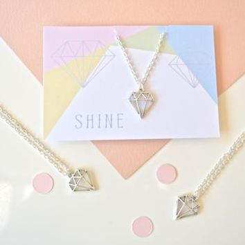 'Shine' Geometric Diamond Necklace
