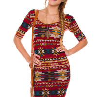 Campbell Aztec Dress