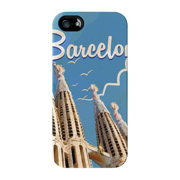 Barcelona Full Wrap High Quality 3D Printed Case for iPhone 5 / 5s by Nick Greenaway