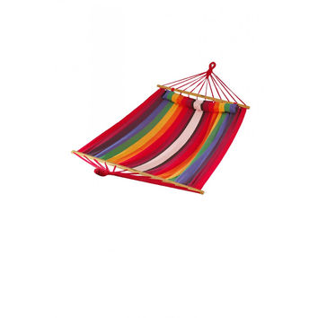 Patio Bliss Oversized Hammock with Spreader Bars and Pillow - Tequila Sunrise