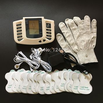 JR309 Electrical  Massage Tens Acupuncture Therapy Machine 16 pcs pads+gloves