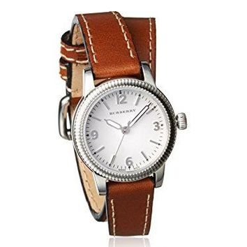 Burberry Women's BU7848 Utilitarian Brown/White Stainless Steel Watch