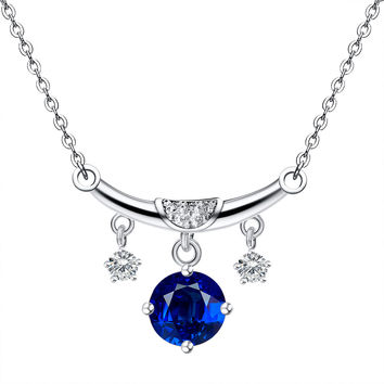 Platinum Plated 12 Constellations Pendant Necklaces AAA Austrian Zircon Crystal Necklaces & Pendants For Women Necklace Jewelry